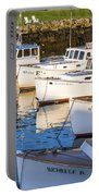 Lobster Boats - Perkins Cove -maine Portable Battery Charger
