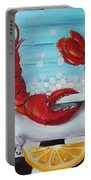 Lobster Bubble Bath Portable Battery Charger