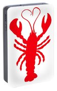 Lobster Love Heart Feelers Portable Battery Charger