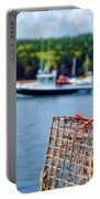 Lobster Trap In Maine Portable Battery Charger