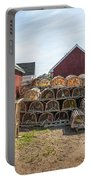Lobster Traps In North Rustico Portable Battery Charger