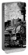 Locomotive Black And White Train Steam Engine Portable Battery Charger