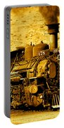 Sepia Locomotive Coal Burning Train Engine   Portable Battery Charger