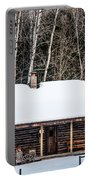 Log Cabin  Portable Battery Charger