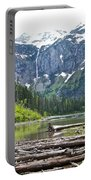 Log Jam In Avalanche Lake In Glacier Np-mt   Portable Battery Charger