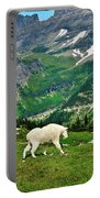 Logan Pass Mountain Goat Portable Battery Charger