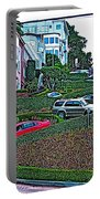 Lombard Street In San Francisco-california  Portable Battery Charger