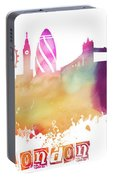 London England Skyline Pastel Portable Battery Charger