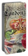 London England Vintage Travel Collage  Portable Battery Charger