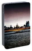 London Over The Waterloo Bridge Portable Battery Charger