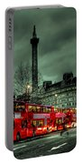 London Red Buses And Routemaster Portable Battery Charger by Jasna Buncic