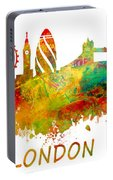 London Skyline Watercolor Portable Battery Charger