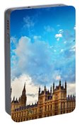 London Uk Big Ben The Palace Of Westminster Portable Battery Charger