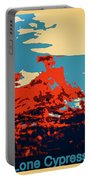 Lone Cypress Poster Portable Battery Charger