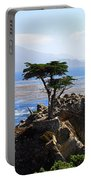 Lone Cypress Tree In Monterey In California Portable Battery Charger