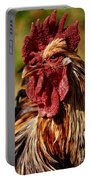 Lone Farm Rooster Portrait Portable Battery Charger