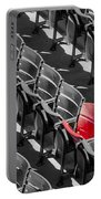 Lone Red Number 21 Fenway Park Bw Portable Battery Charger
