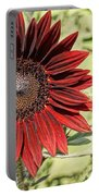 Lone Red Sunflower Portable Battery Charger by Kerri Mortenson