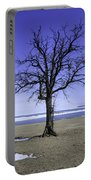Lone Tree At Fort Gratiot Light House  Portable Battery Charger