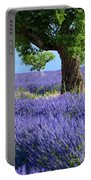 Lone Tree In Lavender Portable Battery Charger