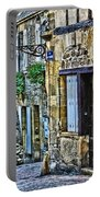 Lonely Lane In Sarlat France Portable Battery Charger
