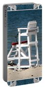 Lonely Lifeguard Station At The End Of Summer Portable Battery Charger