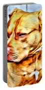 Lonely Pit Bull Portable Battery Charger