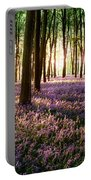 Long Shadows In Bluebell Woods Portable Battery Charger