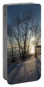 Long Shadows In The Snow Portable Battery Charger