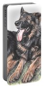 Longhaired German Shepherds Portable Battery Charger