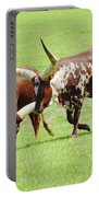 Longhorn Cattle Portable Battery Charger