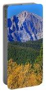 Longs Peak Autumn Aspen Landscape View Portable Battery Charger