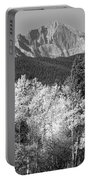 Longs Peak Autumn Scenic Bw View Portable Battery Charger