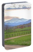Longs Peak Springtime Sunset View  Portable Battery Charger