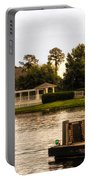 Looking At The Boardwalk Gazebo Walt Disney World Portable Battery Charger
