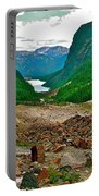 Looking Back To Lake Louise From Trail To Plain Of Six Glaciers In Banff Np-ab  Portable Battery Charger