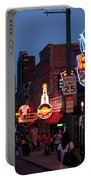 Looking Down Beale Street Memphis Portable Battery Charger