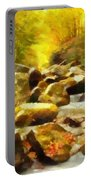 Looking Down Little River In Autumn Portable Battery Charger by Dan Sproul