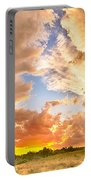 Looking Through The Colorful Sunset To Blue Portable Battery Charger