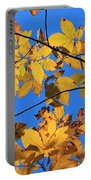 Looking Up To Yellow Leaves Portable Battery Charger