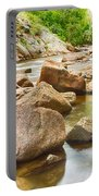Looking Upstream The Colorado St Vrain River Portable Battery Charger