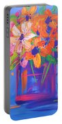 Loosey Goosey Flowers Portable Battery Charger