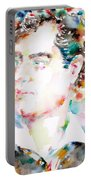 Lord Byron - Watercolor Portrait Portable Battery Charger