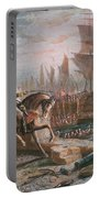 Lord Howe Organizes The British Evacuation Of Boston In March 1776 Portable Battery Charger by English School