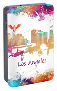 Los Angeles California Skyline Colored Portable Battery Charger