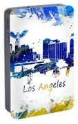 Los Angeles California Skyline Yellow Blue Portable Battery Charger