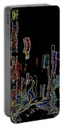 Losing Equilibrium - Abstract Art Portable Battery Charger