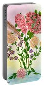 Lots Of Flowers Portable Battery Charger