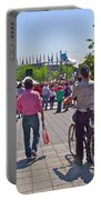Lots Of People In Old Montreal-qc Portable Battery Charger
