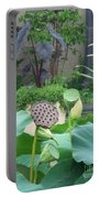 Lotus Flower In Lily Pond Portable Battery Charger